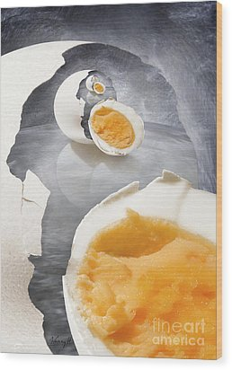 Egg In A Egg In A Wood Print by Johnny Hildingsson