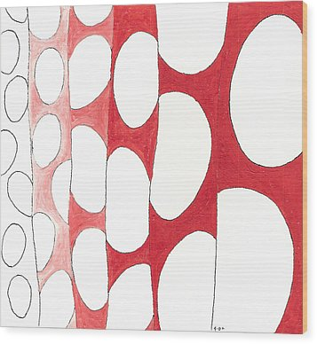 Egg Shower Curtain Wood Print by Phil Burns