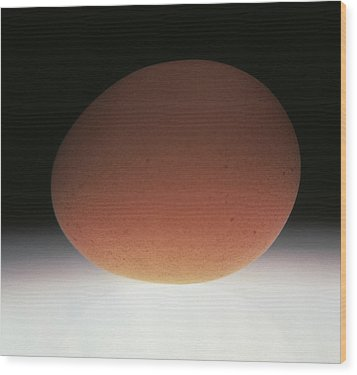 Egg Wood Print by Victor De Schwanberg