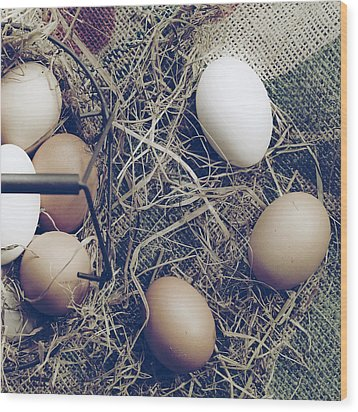 Eggs Wood Print by Joana Kruse