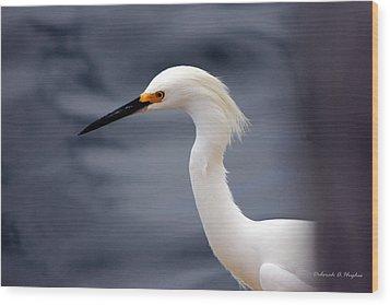 Egret Soft Wood Print