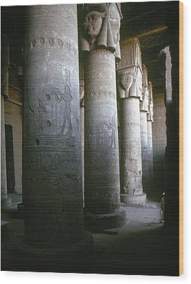 Egypt: Temple Of Hathor Wood Print by Granger