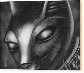 Egyptian Cat Wood Print