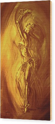 Egyptian Dancer 1 Wood Print by Christo Wolmarans