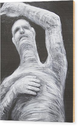 Egyptian Mummy Conducting Beethoven's Ninth Symphony  Wood Print by Kazuya Akimoto