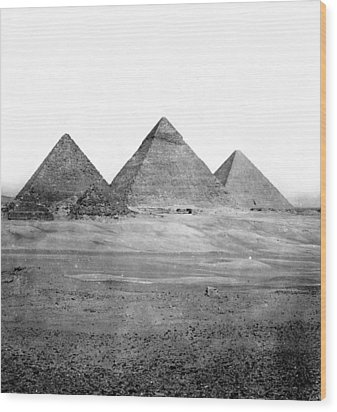 Egyptian Pyramids - C 1901 Wood Print by International  Images