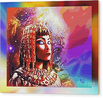 Wood Print featuring the digital art Egyptian Queen by Hartmut Jager