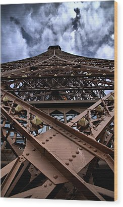 Eiffel In Perspective  Wood Print by Edward Myers