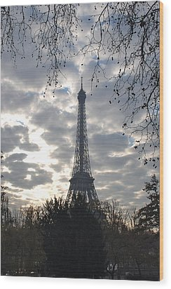 Wood Print featuring the photograph Eiffel In The Morning by Eric Tressler