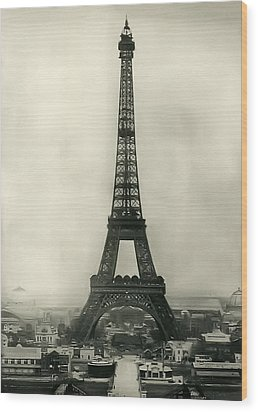 Eiffel Tower 1890 Wood Print by Bill Cannon