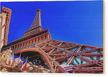 Eiffel Tower At Paris Las Vegas Wood Print