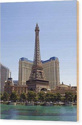 Eiffel Tower Las Vegas Wood Print by James Granberry