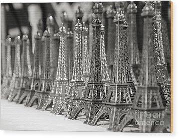 Eiffel Tower Miniature Wood Print