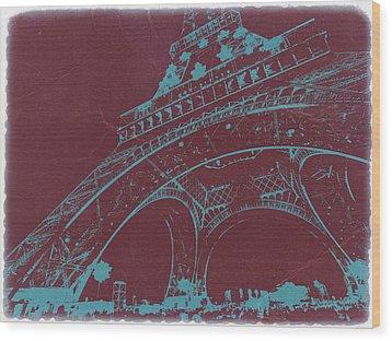 Eiffel Tower Wood Print by Naxart Studio