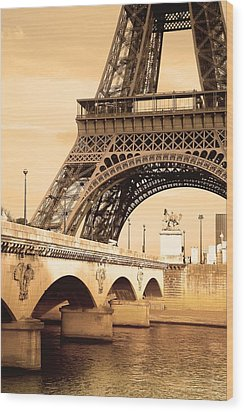 Eiffel Tower, Paris, France Wood Print by Carson Ganci