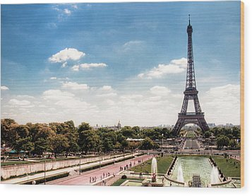 Eiffel Tower Wood Print by Photo by Stuart Gleave