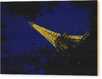 Wood Print featuring the photograph Eiffel's Magnificence by Marta Cavazos-Hernandez
