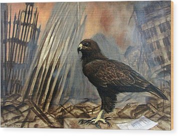 Wood Print featuring the painting Either Peace Or War by Sandra Chase