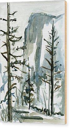 El Capitan Wood Print by Carol A Marcus