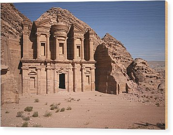 El Deir, The Monastery, Petra, Jordan Wood Print by Joe & Clair Carnegie / Libyan Soup