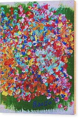 ..el Jardin De Gabo... Wood Print by Adolfo hector Penas alvarado
