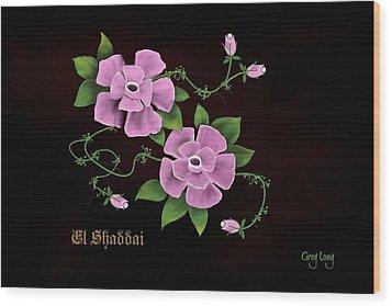 El Shaddai         The Almighty Wood Print by Greg Long
