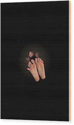 Elasticity Wood Print by E  Kraizberg