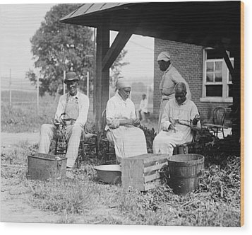Elderly African Americans Who Were Once Wood Print by Everett