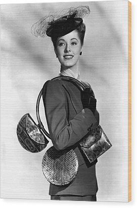 Eleanor Parker Carrying 3 Small Wood Print by Everett
