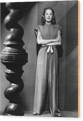 Eleanor Parker, Wearing A One-piece Wood Print by Everett