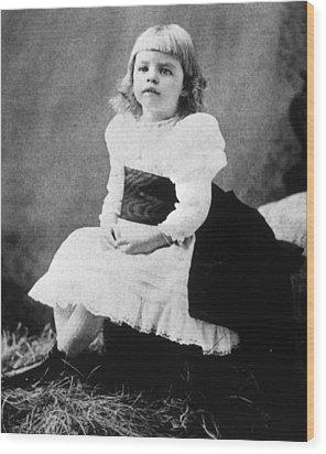 Eleanor Roosevelt 1884-1962, Ca. 1889 Wood Print by Everett