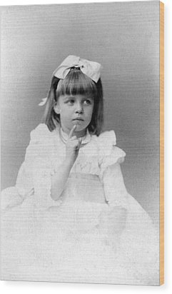 Eleanor Roosevelts At The Age Of Five Wood Print by Everett