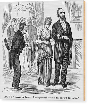 Election Cartoon, 1877 Wood Print by Granger