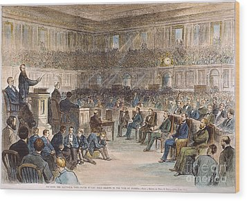 Electoral Commission, 1877 Wood Print by Granger