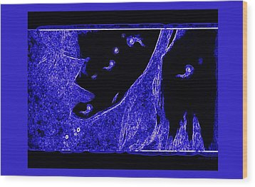 Electric Blue Wood Print