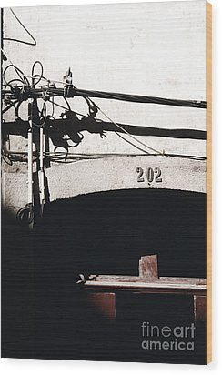 Wood Print featuring the photograph Electric Cables by Agnieszka Kubica