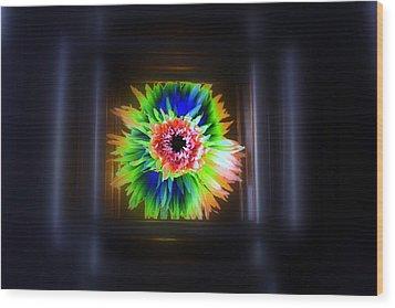 Electric Flower Wood Print by Marcia Lee Jones