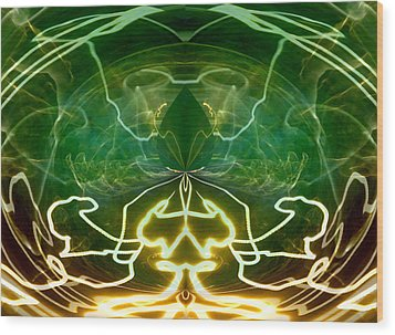 Wood Print featuring the digital art Electric Storm by Ginny Schmidt
