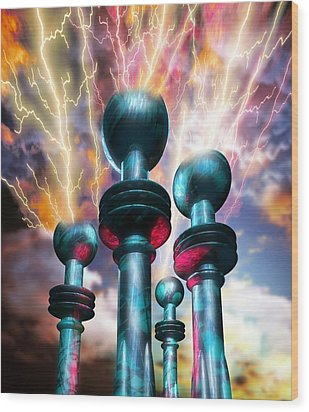 Electrical Generators Wood Print by Victor Habbick Visions