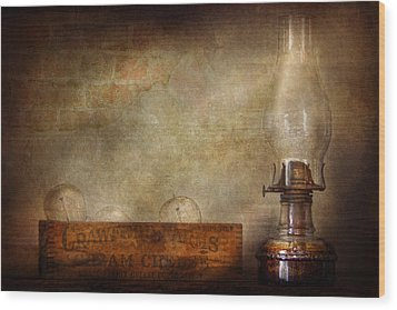 Electrician - Advancements In Lighting  Wood Print by Mike Savad