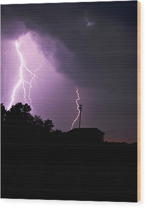 Electrifying Sky  Wood Print