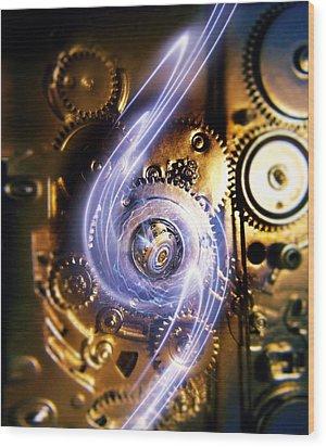 Electromechanics, Conceptual Image Wood Print by Richard Kail