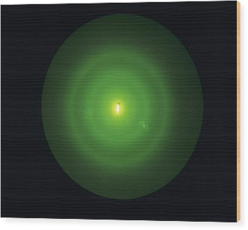 Electron Diffraction Pattern Wood Print by Andrew Lambert Photography