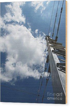 Elektik Sky Wood Print by Yury Bashkin