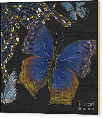 Elena Yakubovich - Butterfly 2x2 Lower Right Corner Wood Print by Elena Yakubovich