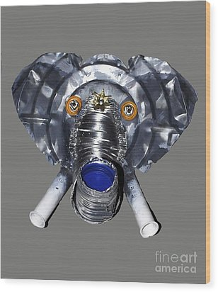 Elephant Mask Wood Print