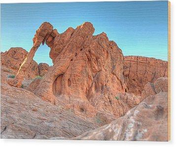Elephant Rock Wood Print by Don Mennig