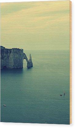 Elephant Rock In Etretat, Normandy In France Wood Print by Photo by Ira Heuvelman-Dobrolyubova
