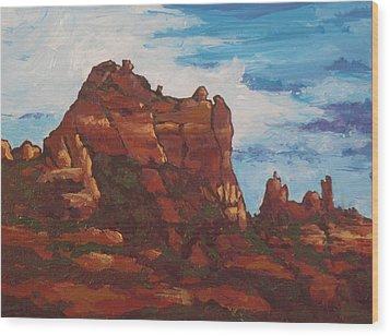 Elephant Rock Wood Print by Sandy Tracey
