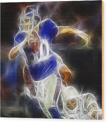 Eli Manning Quarterback Wood Print by Paul Ward